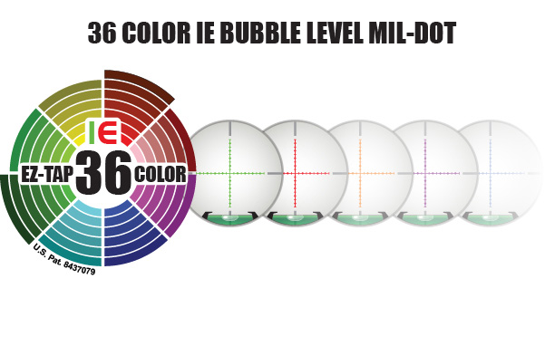 36 COLOR IE BUBBLE LEVEL MIL-DOT